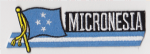 Micronesia Embroidered Flag Patch, style 01.